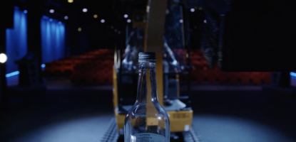 The Bottle Cap Challenge with the new JCB Electric Excavator.